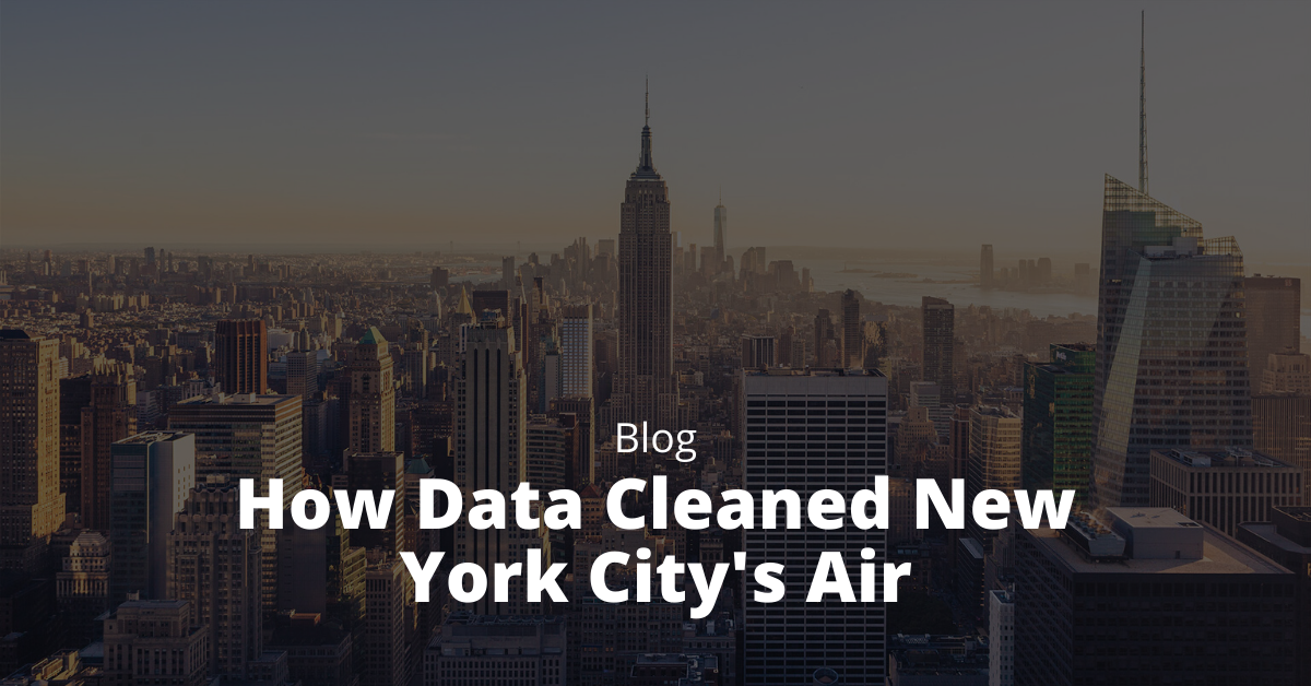 how data cleaned new york city's air
